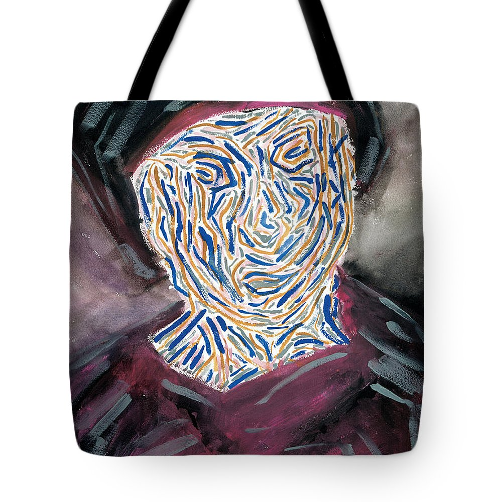 Contemporary Tote Bag featuring the painting Refugee Europe -99 by Bjorn Sjogren