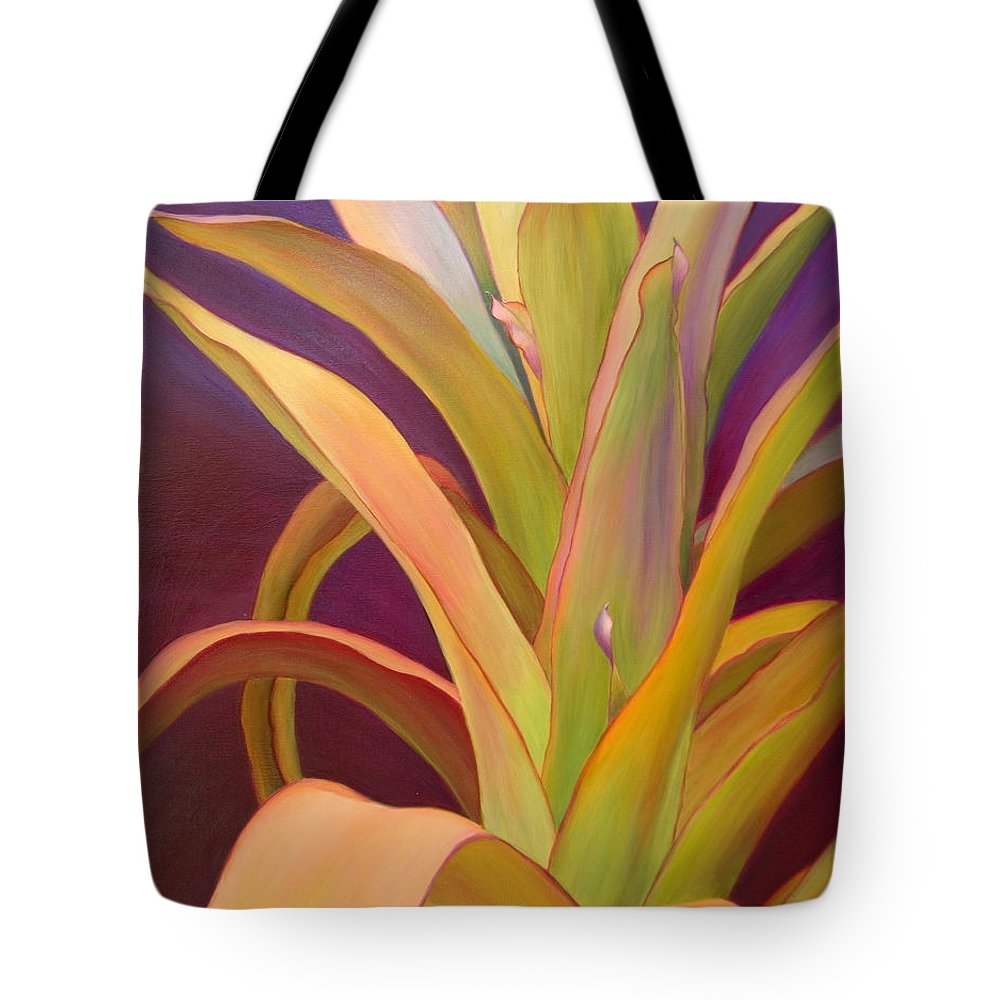Regal Tote Bag featuring the painting Regalia by Sandi Whetzel