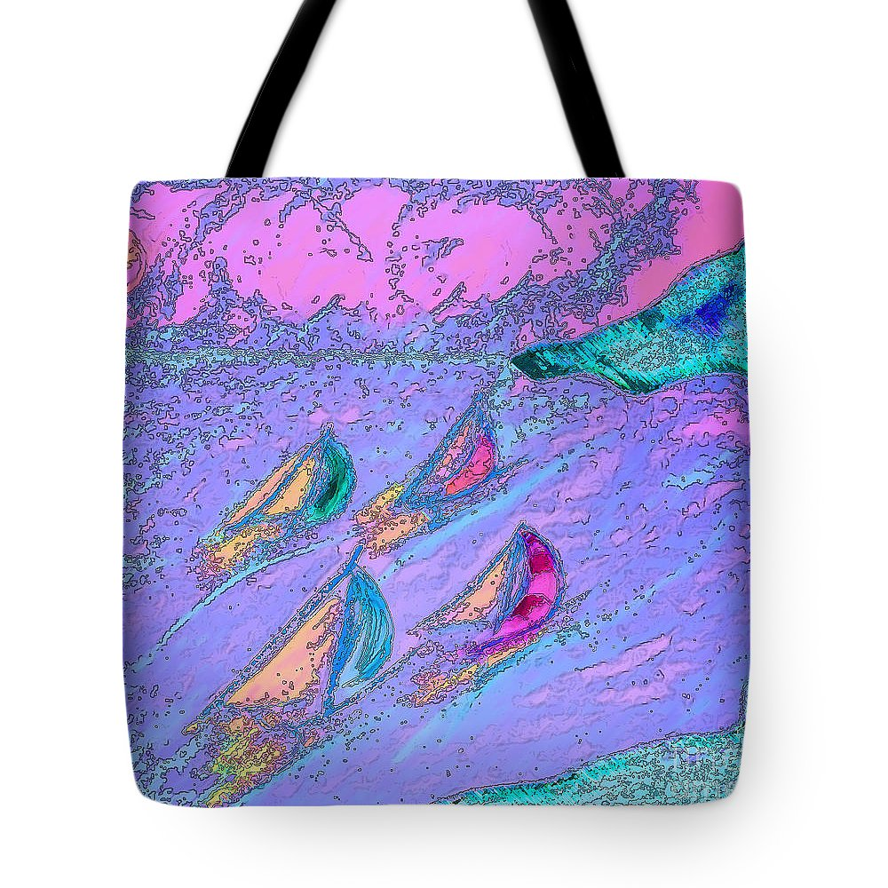 First Star Art Tote Bag featuring the drawing Regatta by First Star Art