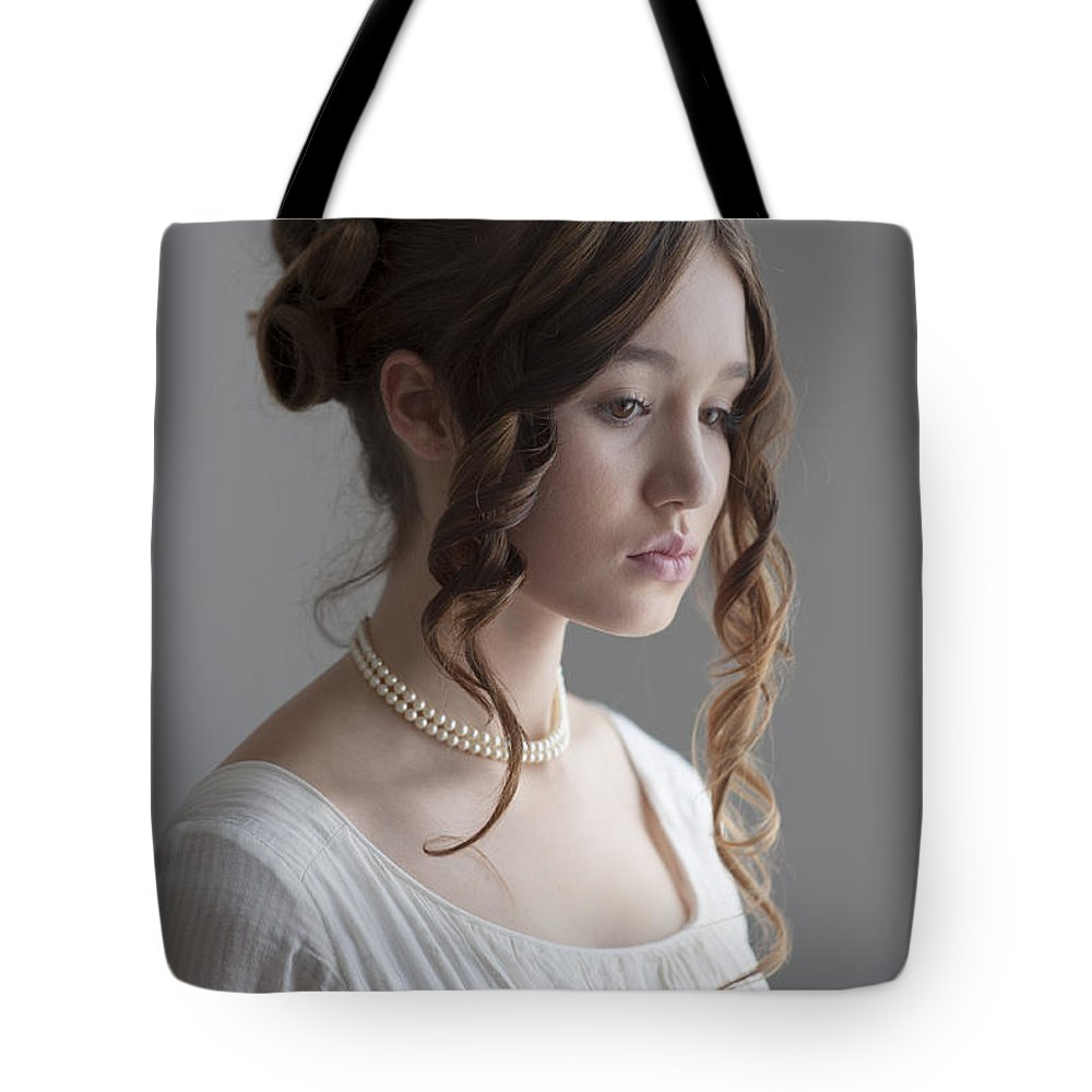 Regency Tote Bag featuring the photograph Regency Period Woman Portrait Beautiful Young by Lee Avison