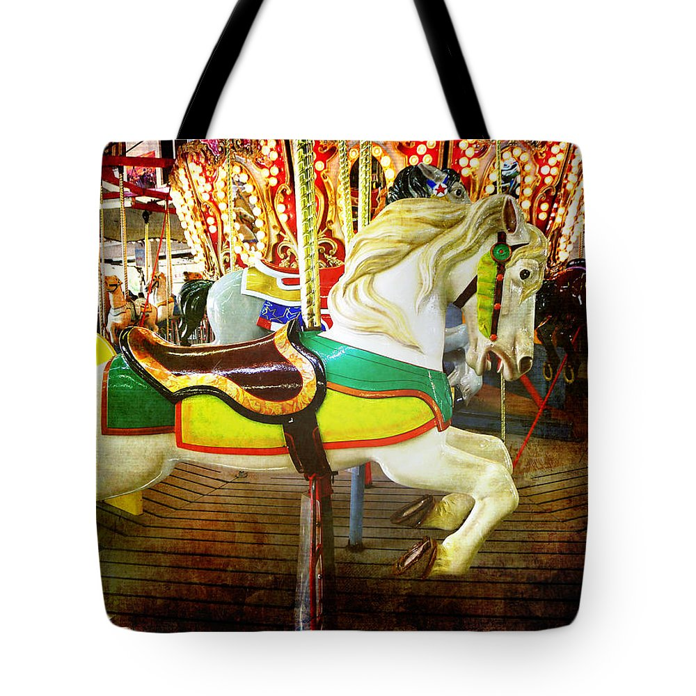 Carousel Tote Bag featuring the photograph Rehoboth Charger by Richard Reeve