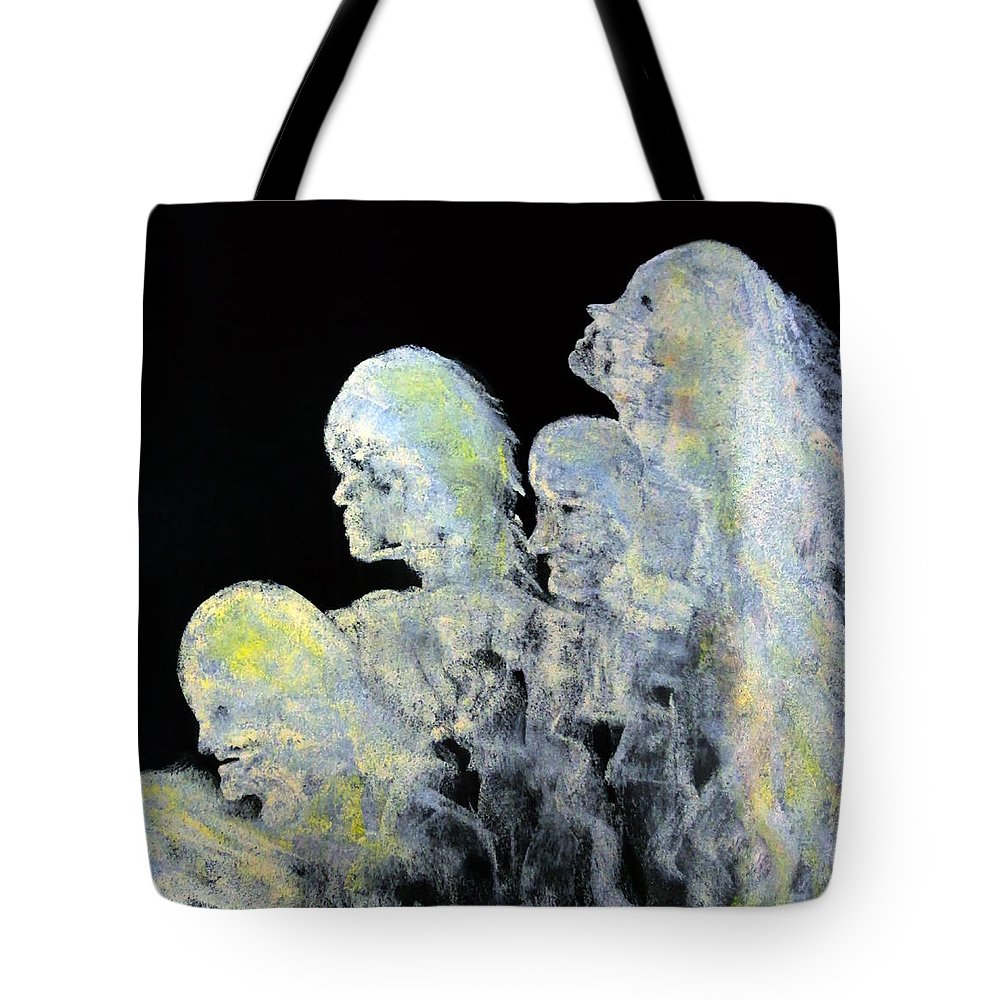 Katie Black Tote Bag featuring the painting Reincarnation by Katie Black