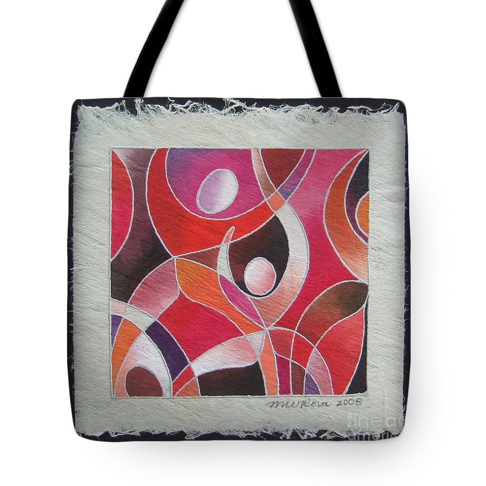 Fiji Islands Tote Bag featuring the painting Reki IIi - Dance For Joy by Maria Rova