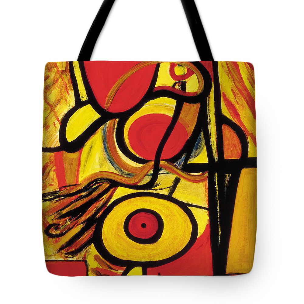 Abstract Art Tote Bag featuring the painting Relativity 2 by Stephen Lucas