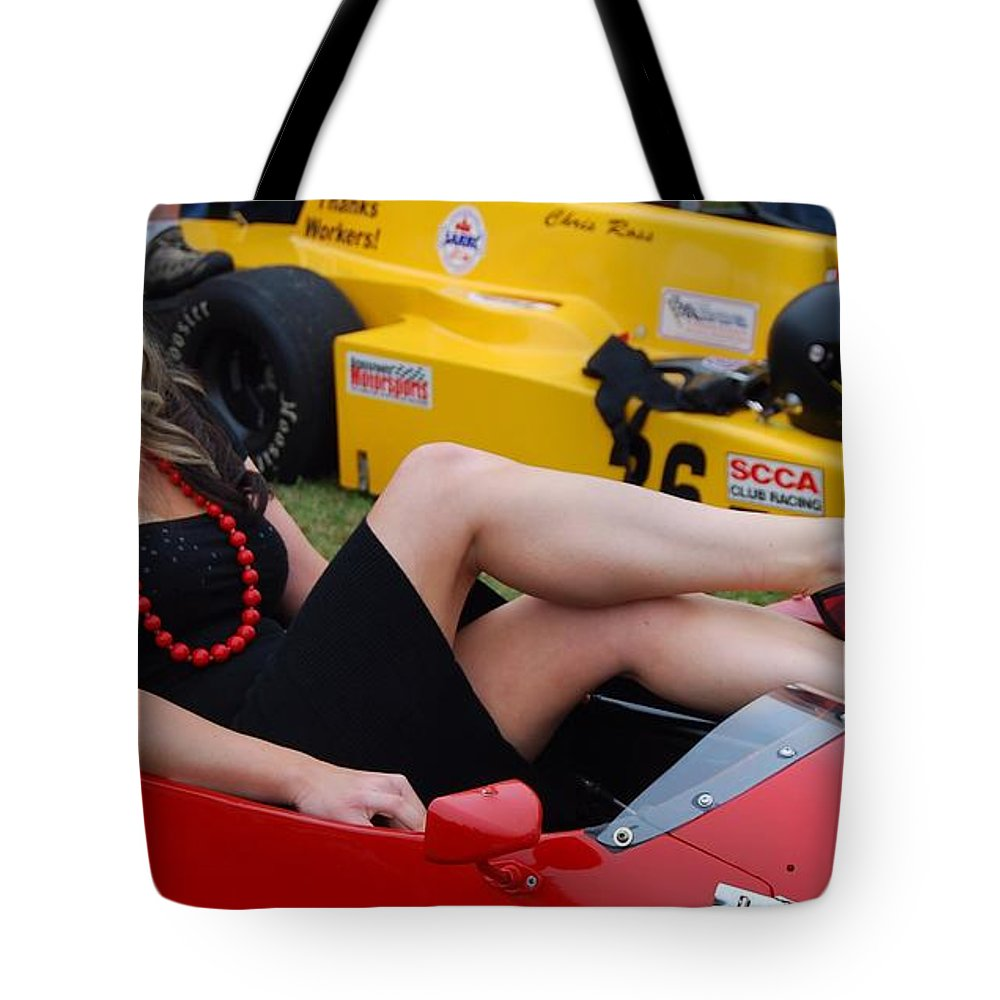 Indy Race Car Tote Bag featuring the photograph Relaxed Racer by Mark Spearman