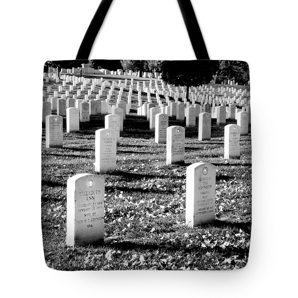 Arlington Cemetery Tote Bag featuring the photograph Religion Never Dies by Greg Fortier
