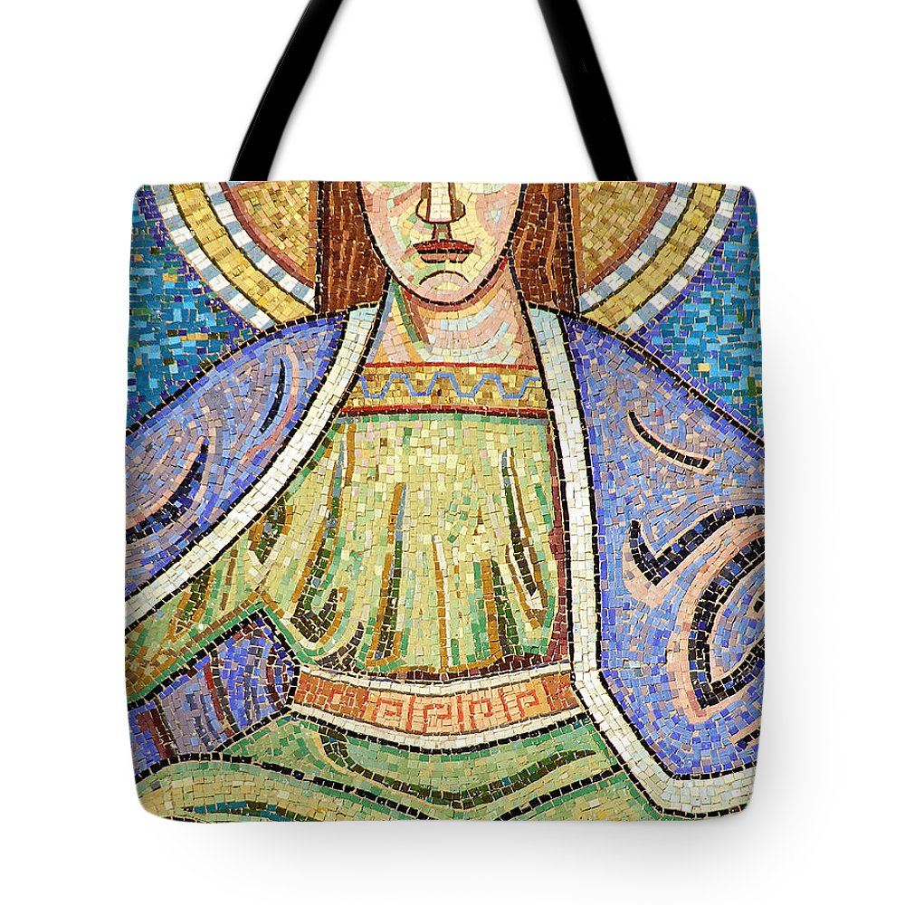 Ancient Tote Bag featuring the photograph Religious Mosaic 04 by Antony McAulay