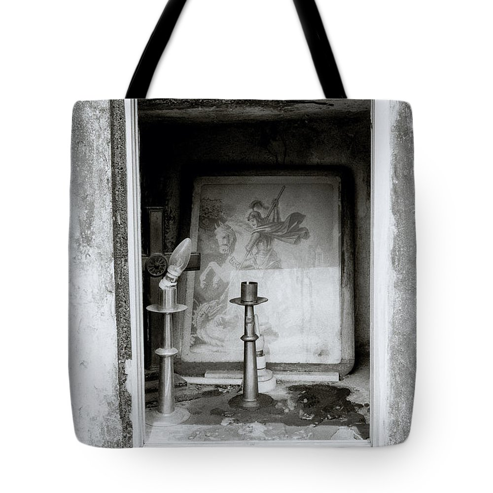 Art Tote Bag featuring the photograph Religious Window by Shaun Higson