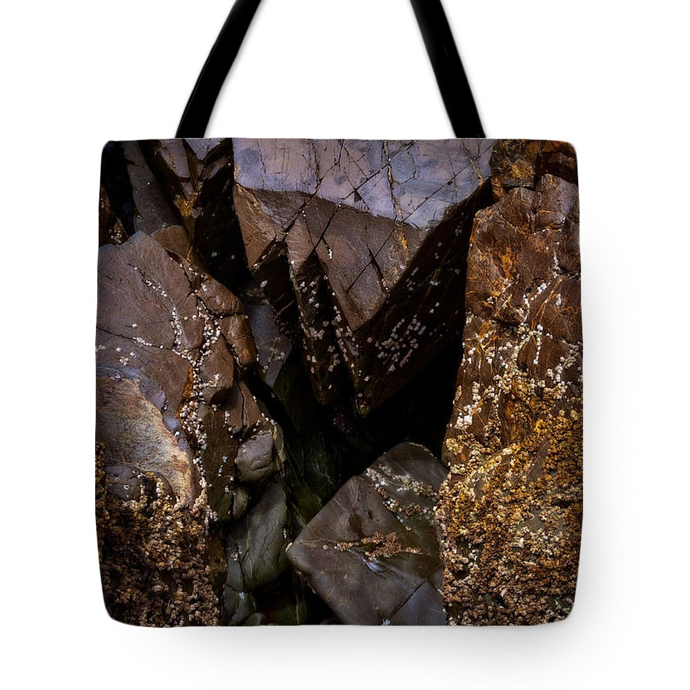 Barnacles Tote Bag featuring the photograph Remarkable Rocks by Venetta Archer