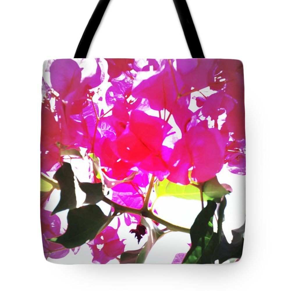 Bouganvillea Tote Bag featuring the photograph Remember My Big And Beautiful Bouganvillea by Hilde Widerberg