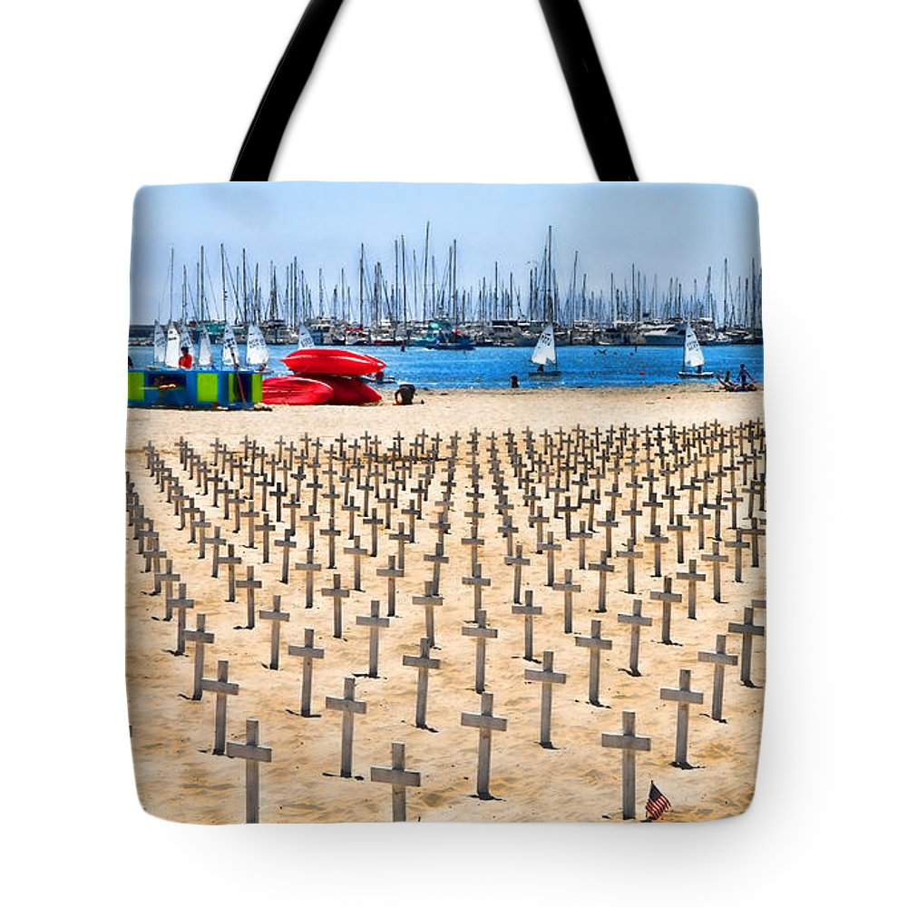 Veterans Tote Bag featuring the photograph Remembering Heros By Diana Sainz by Diana Raquel Sainz
