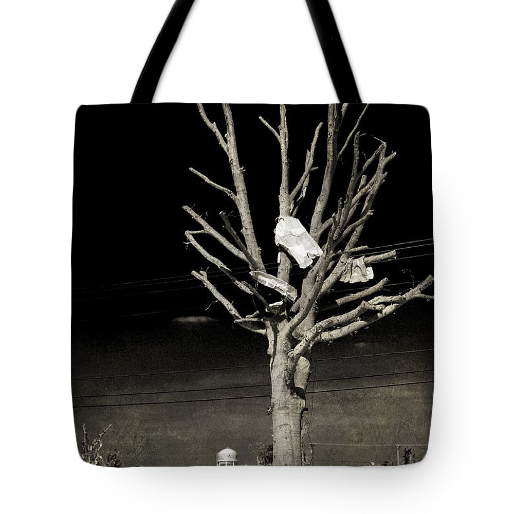 Tree Tote Bag featuring the photograph Remembering Joplin by Judy Hall-Folde