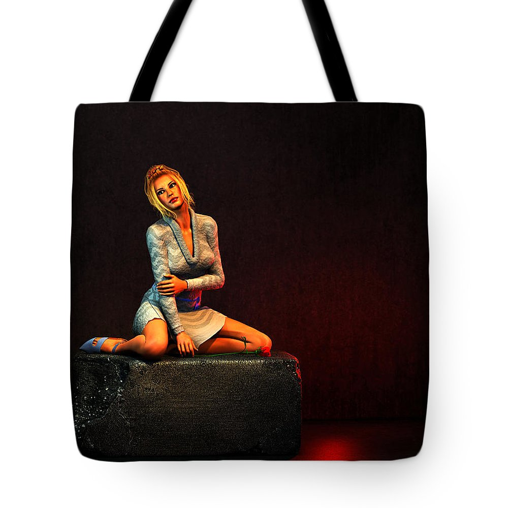Portrait Tote Bag featuring the digital art Remembering... by Tim Fillingim