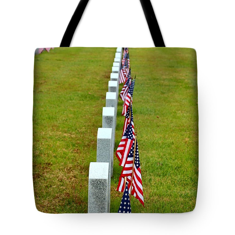 Celebrating And Remembering Veteran's Day Tote Bag featuring the photograph Remembering Veteran's Day by Shannon Louder