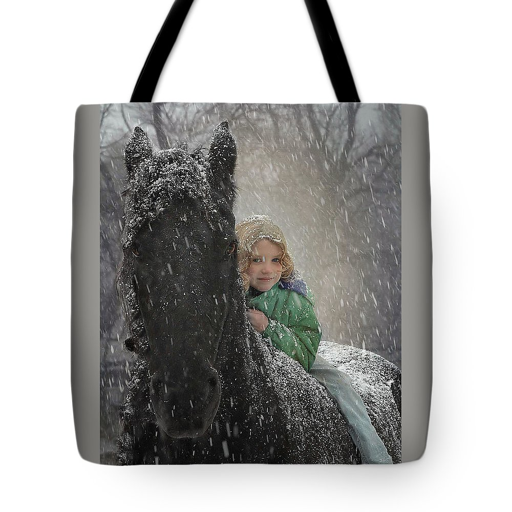 Friesian Tote Bag featuring the photograph Remme And Rory by Fran J Scott