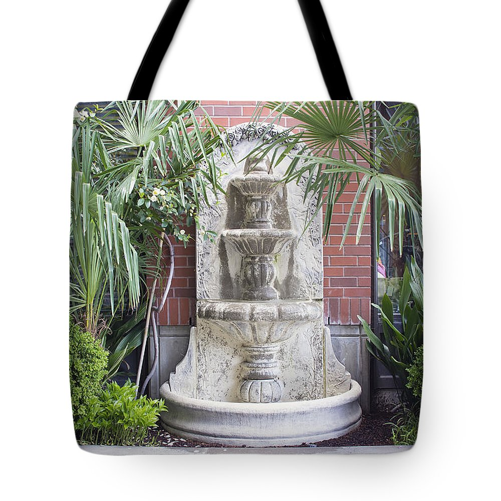 Water Tote Bag featuring the photograph Renaissance Style Water Fountain by Jit Lim