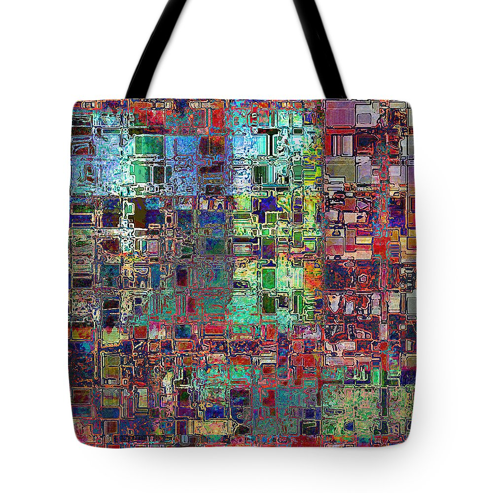 Abstract Tote Bag featuring the digital art Reno Merger by Stephanie Grant