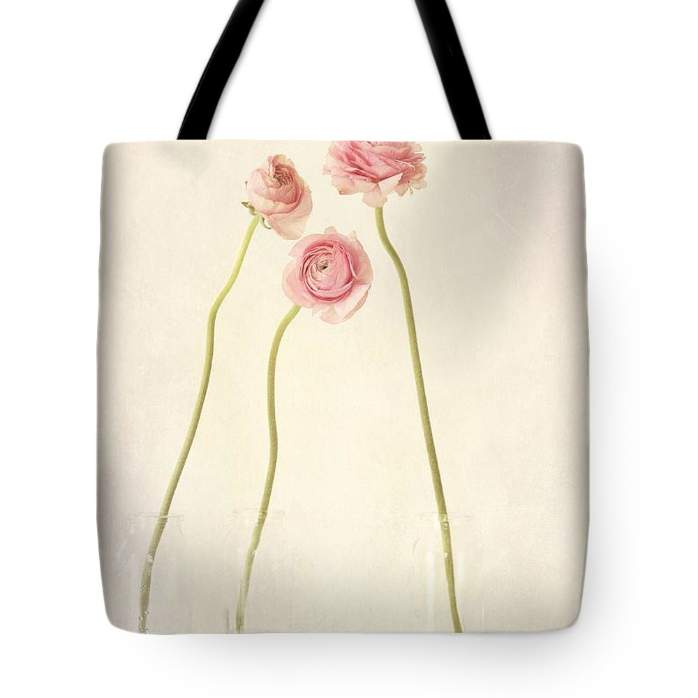Still Life Tote Bag featuring the photograph Renoncules by Priska Wettstein