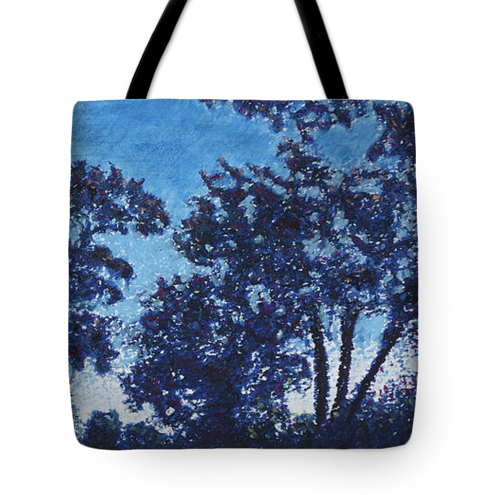 Trees Tote Bag featuring the pastel Rensing Tree by Michele Fritz