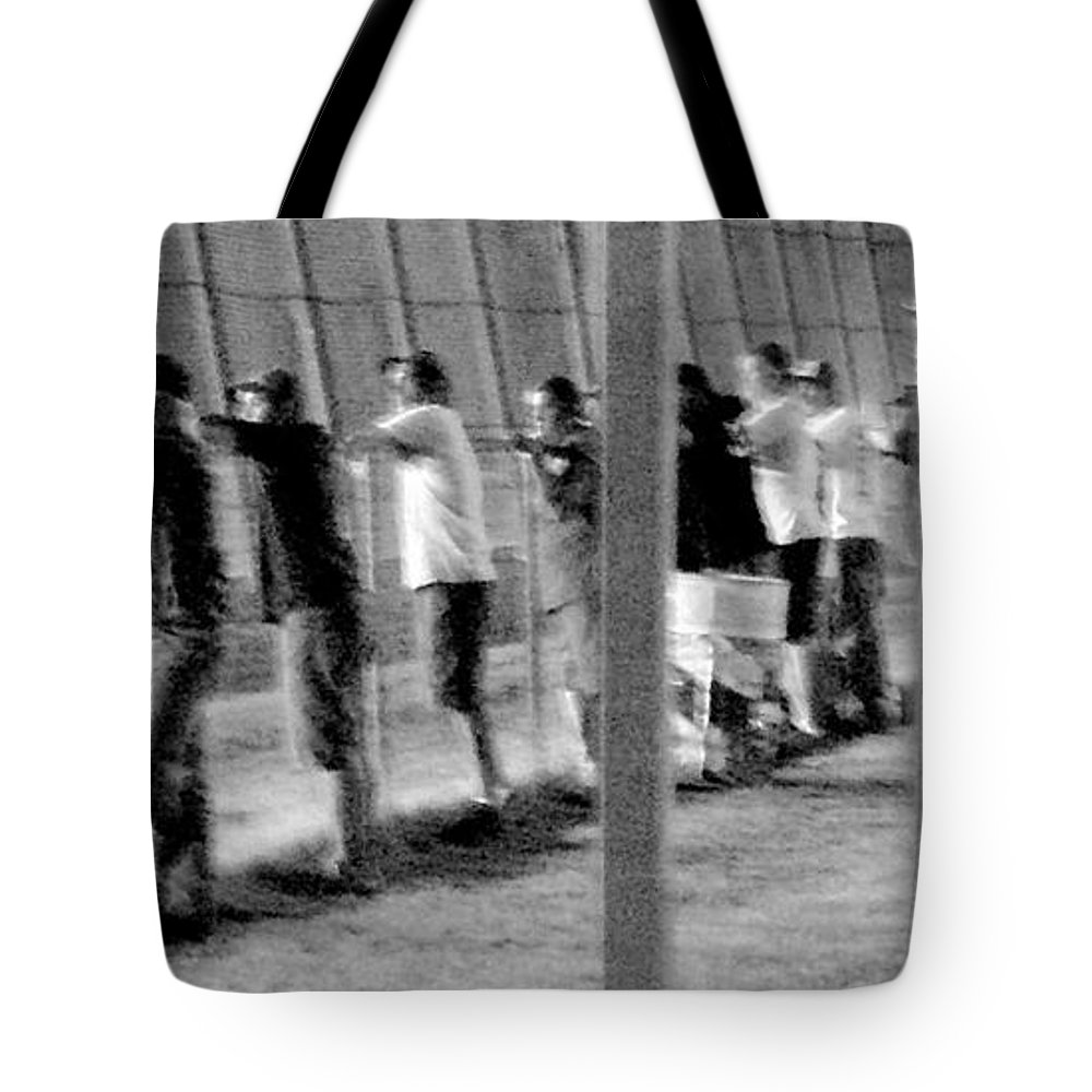 Watching Tote Bag featuring the photograph Repetition by Robert Shinn
