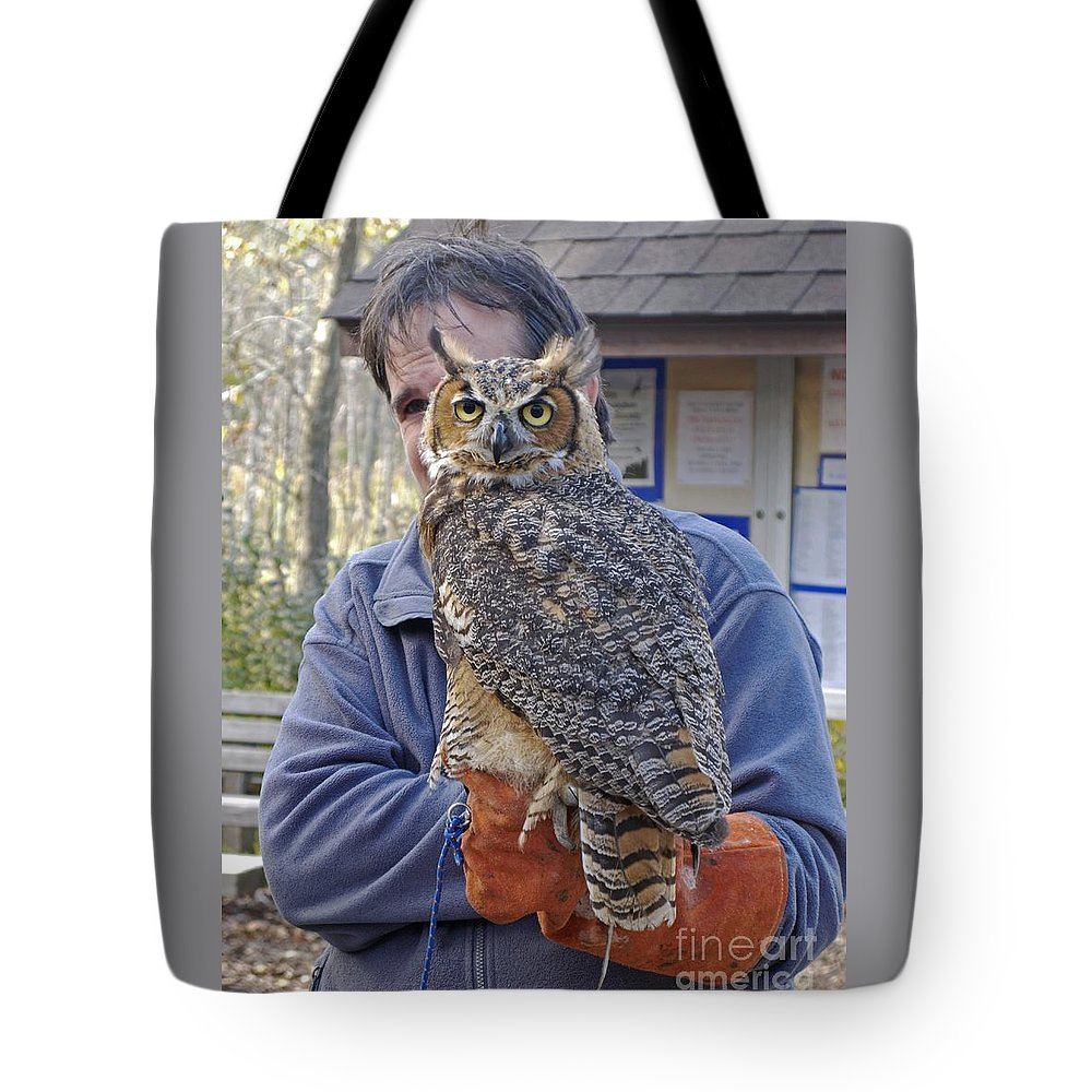 Owl Tote Bag featuring the photograph Rescued by Ann Horn