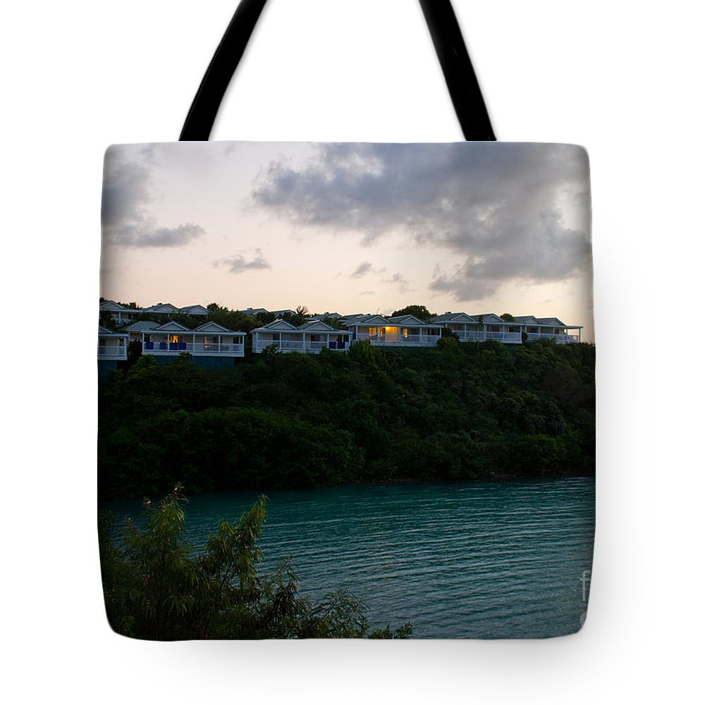 Antigua Tote Bag featuring the photograph Resort By The Sea by Luis Alvarenga