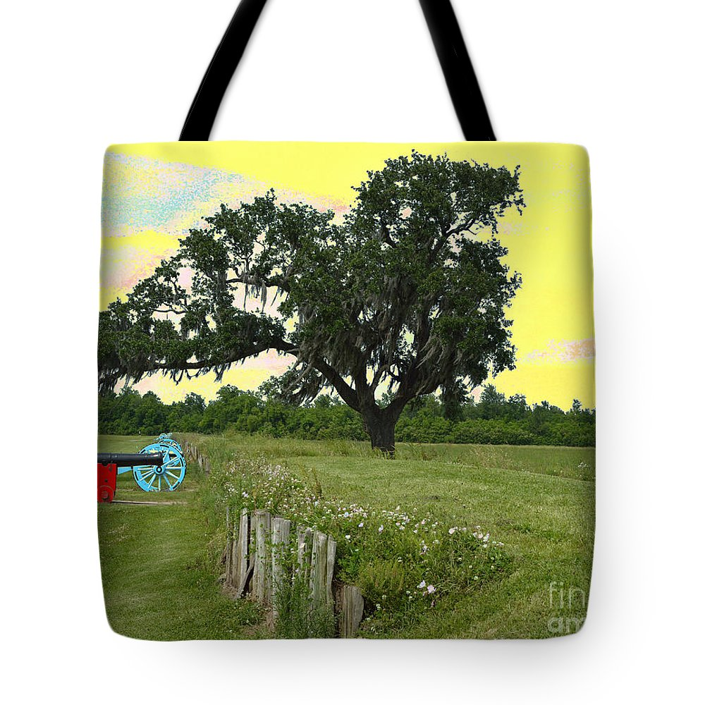 Battle Of New Orleans Tote Bag featuring the digital art Rest In Peace 2 by Alys Caviness-Gober