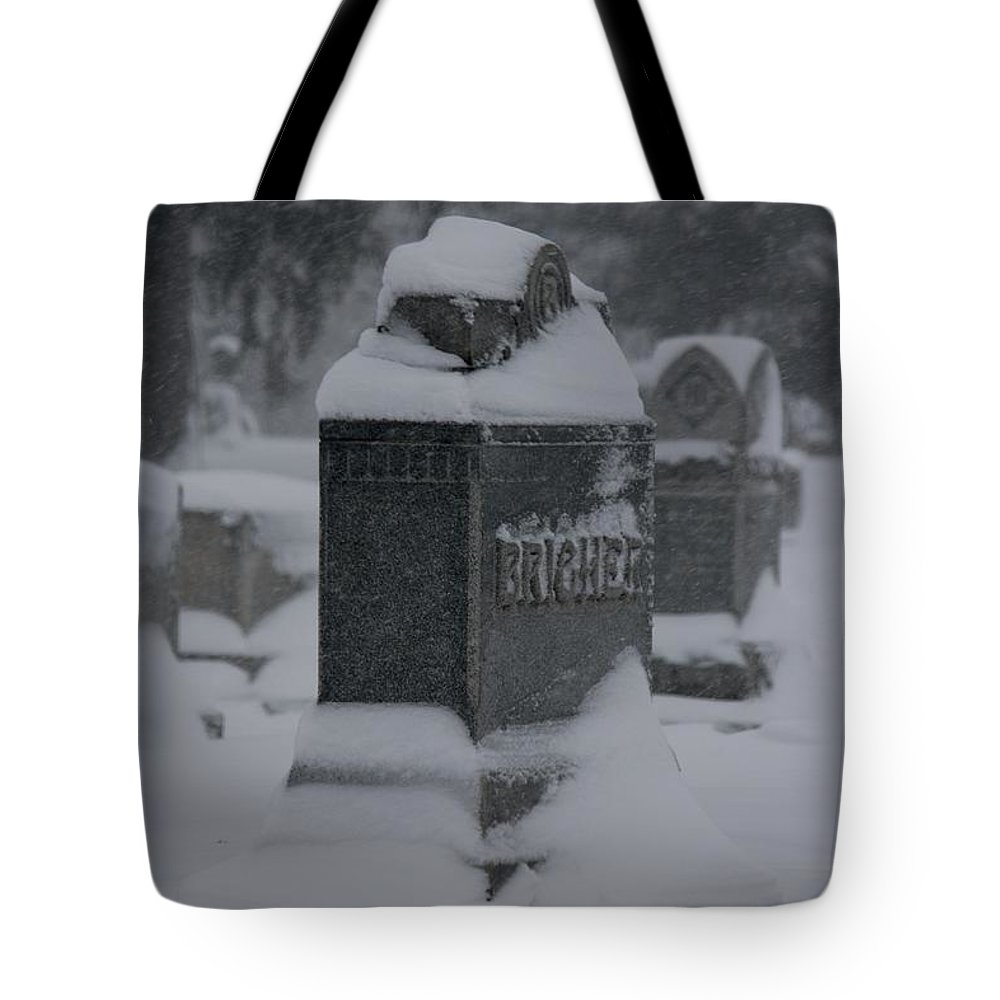 Winter Tote Bag featuring the photograph Rest In Winter Peace by Veronica Batterson
