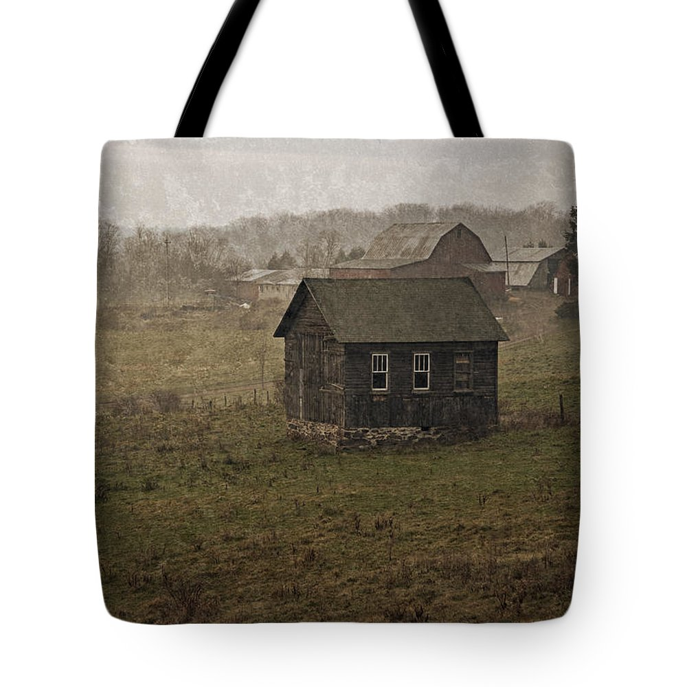 Farm Tote Bag featuring the photograph Retired by John Stephens