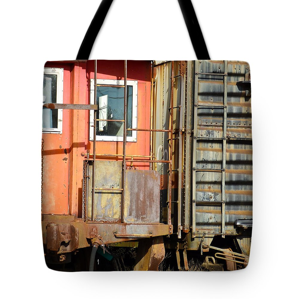 Freight Tote Bag featuring the photograph Retired Railroad by Nick Kirby