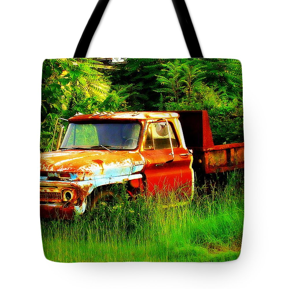 Fine Art Tote Bag featuring the photograph Retired by Rodney Lee Williams