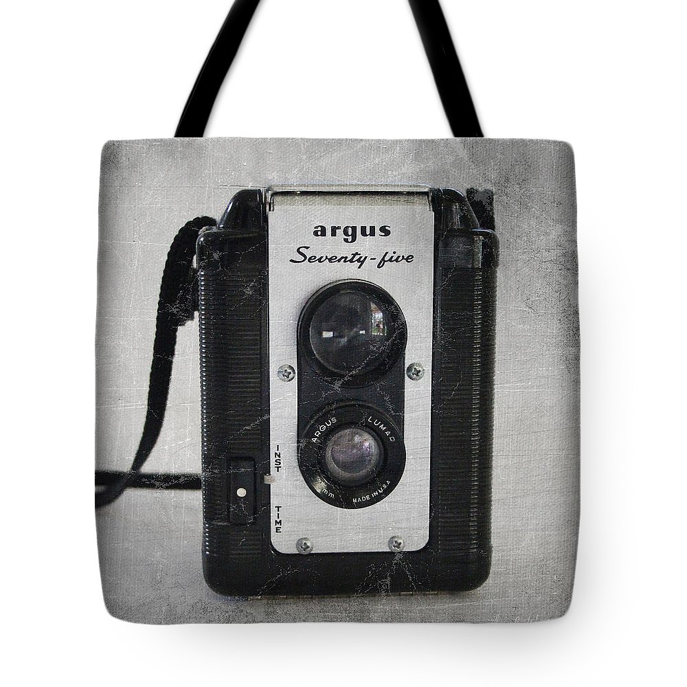 Camera Tote Bag featuring the photograph Retro Camera by Linda Woods