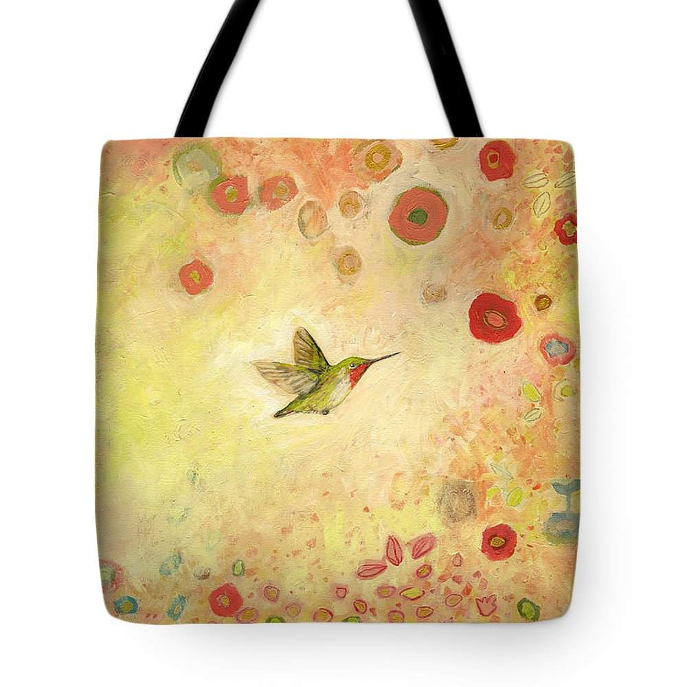 Bird Tote Bag featuring the painting Returning to Fairyland by Jennifer Lommers