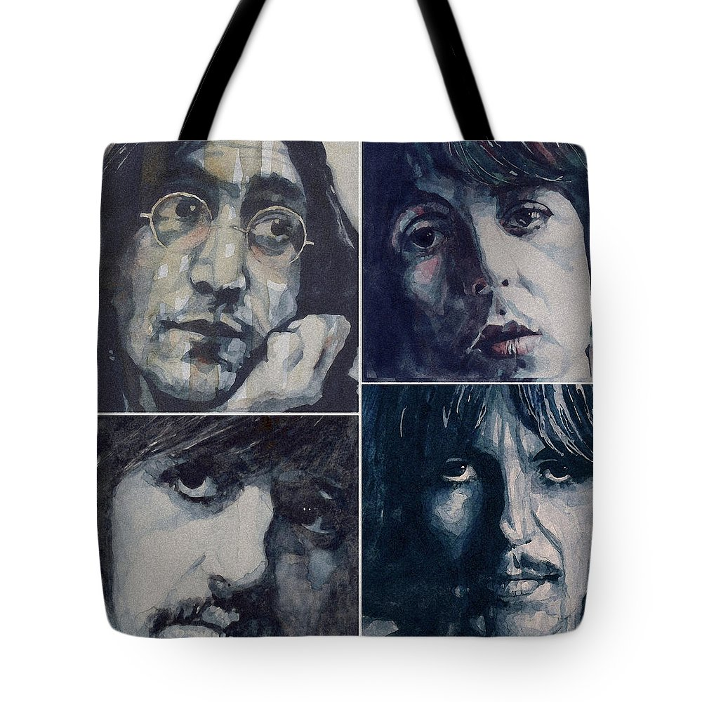 The Beatles Tote Bag featuring the painting Reunion by Paul Lovering
