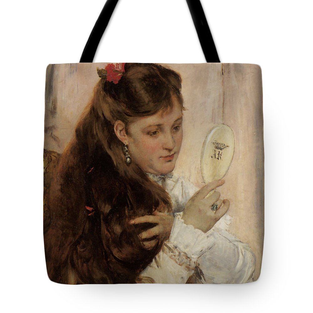 Alfred Stevens Tote Bag featuring the digital art Reveil by Alfred Stevens