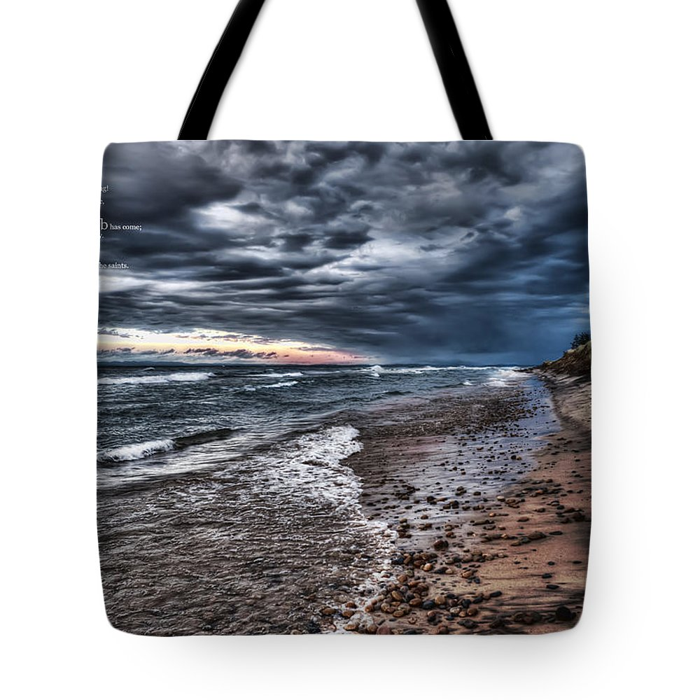 Evie Tote Bag featuring the photograph Revelation 19 6 by Evie Carrier
