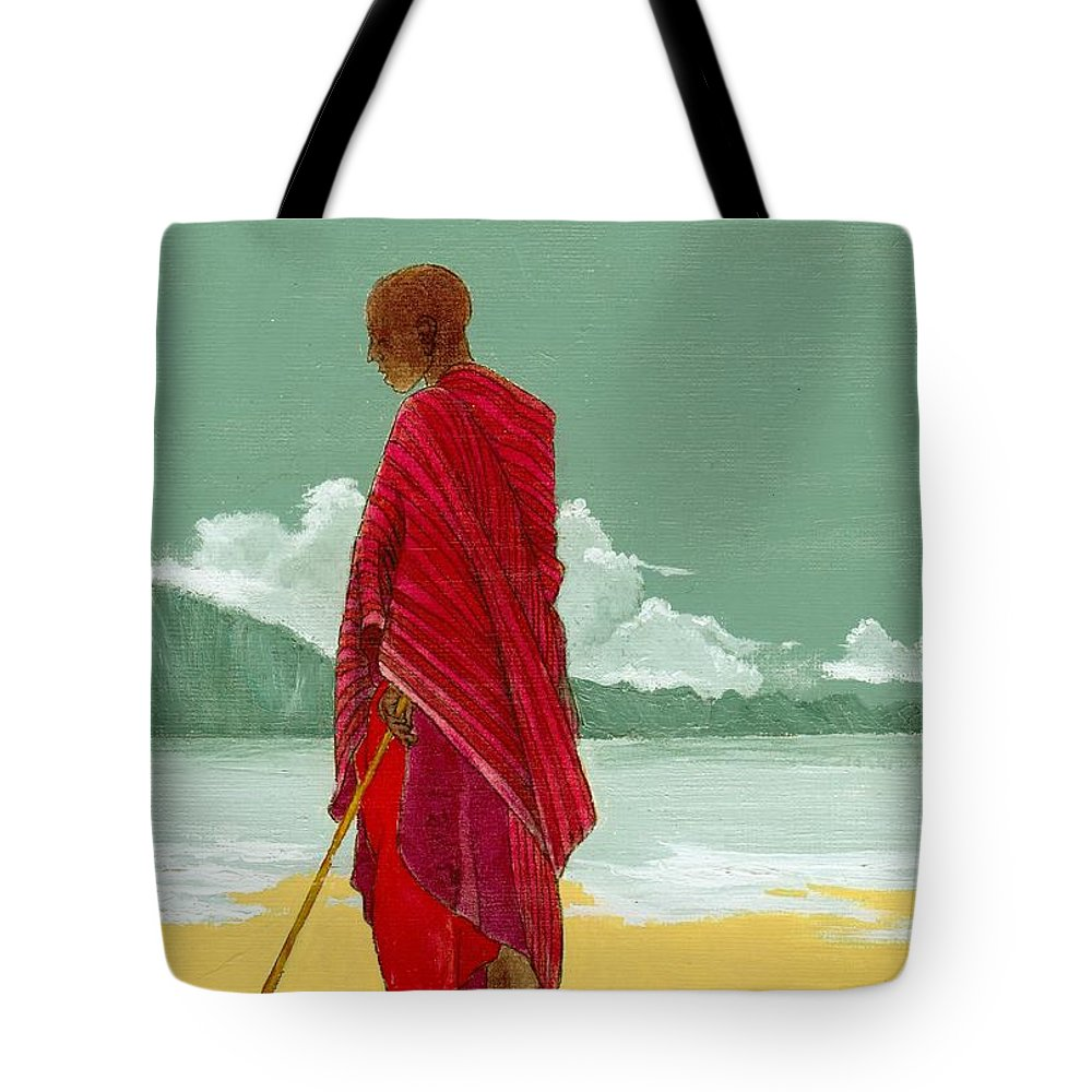 Figurative Painting Tote Bag featuring the painting Reverence by Edith Peterson
