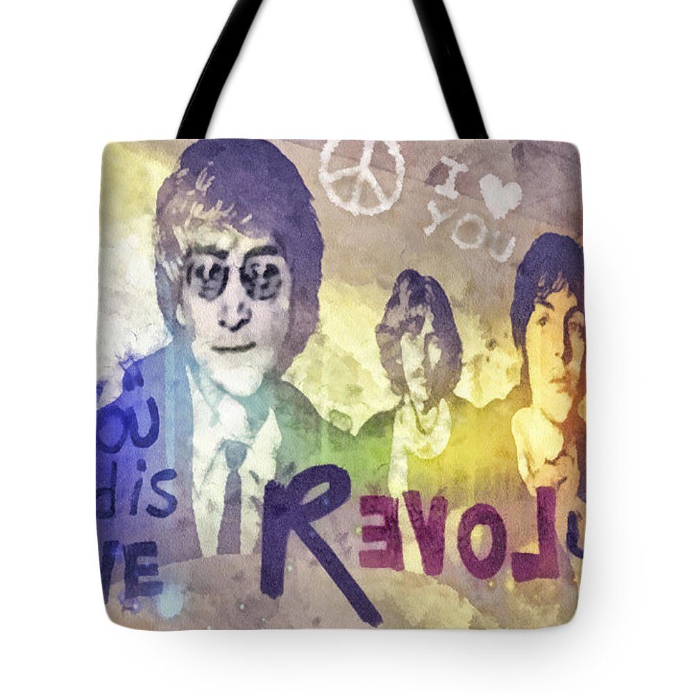 George Harrison Rock N Roll Tote Bags