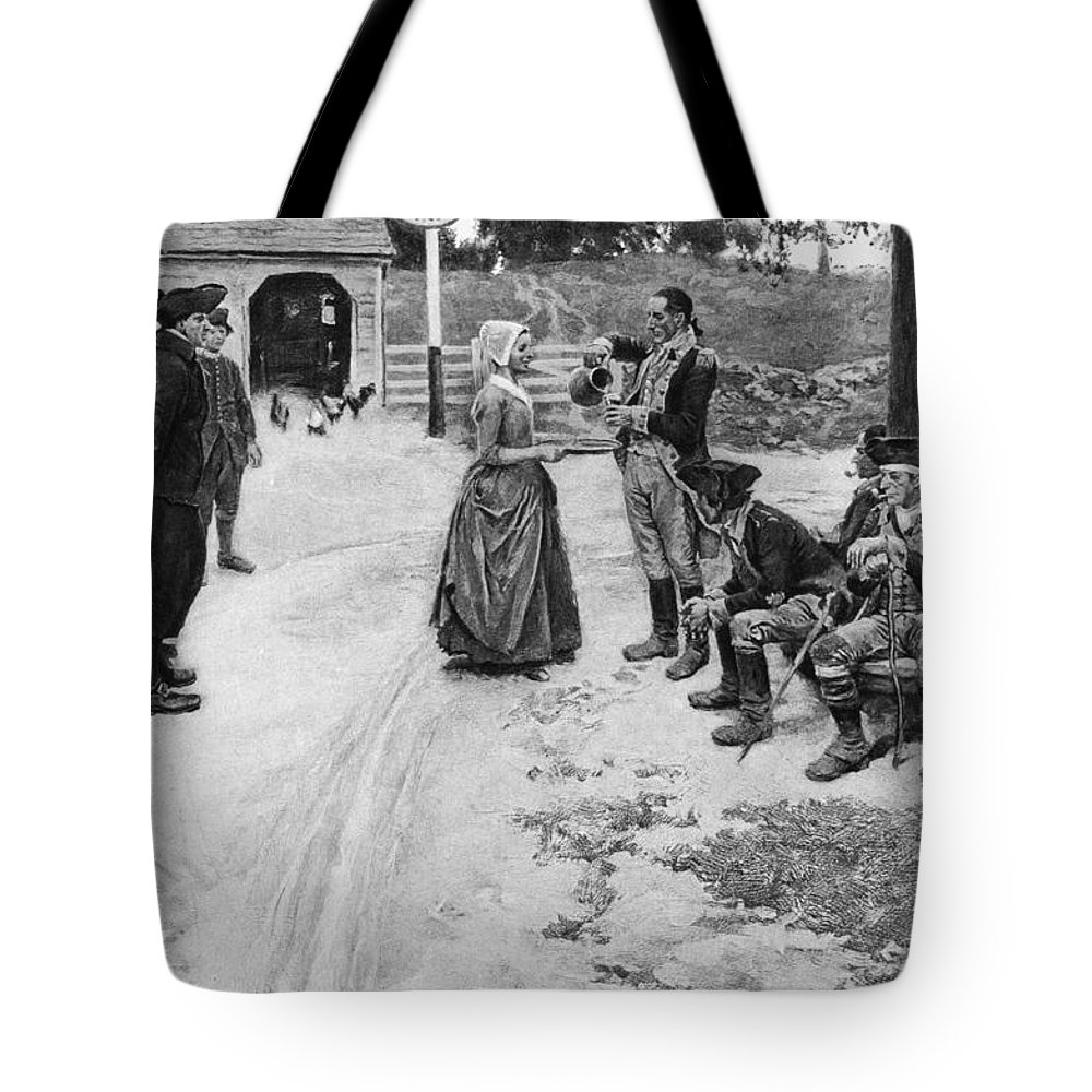 1780s Tote Bag featuring the photograph Revolution: Soldiers by Granger