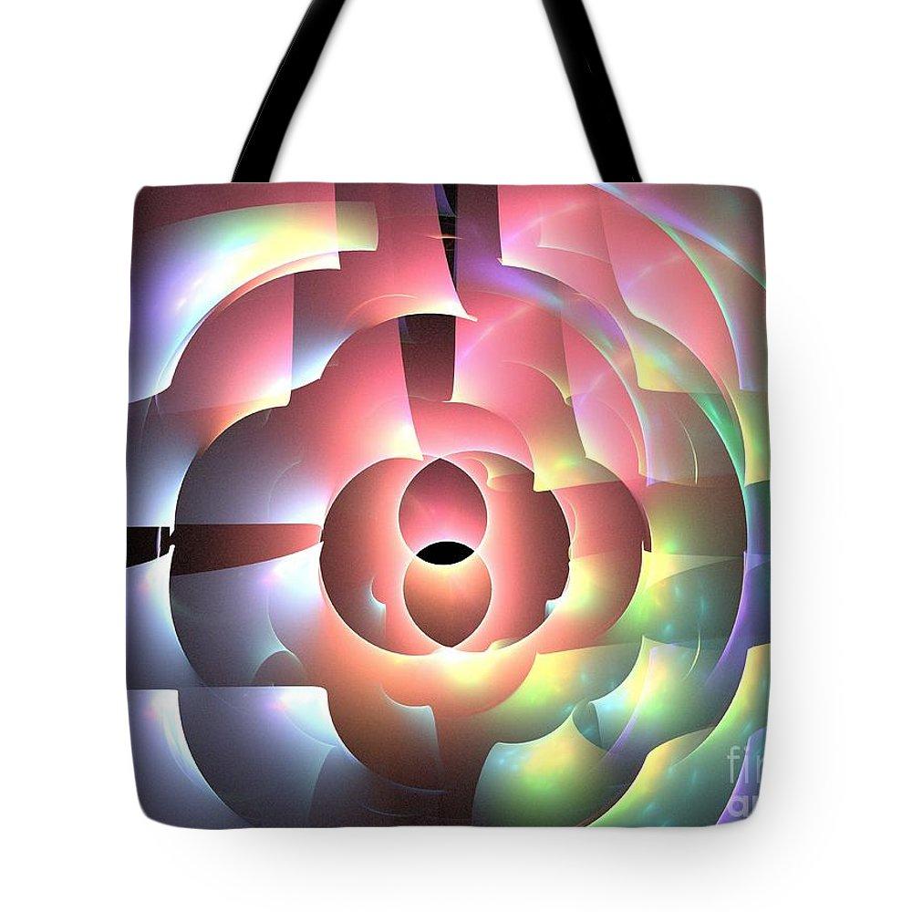 Apophysis Tote Bag featuring the digital art Rhodium by Kim Sy Ok