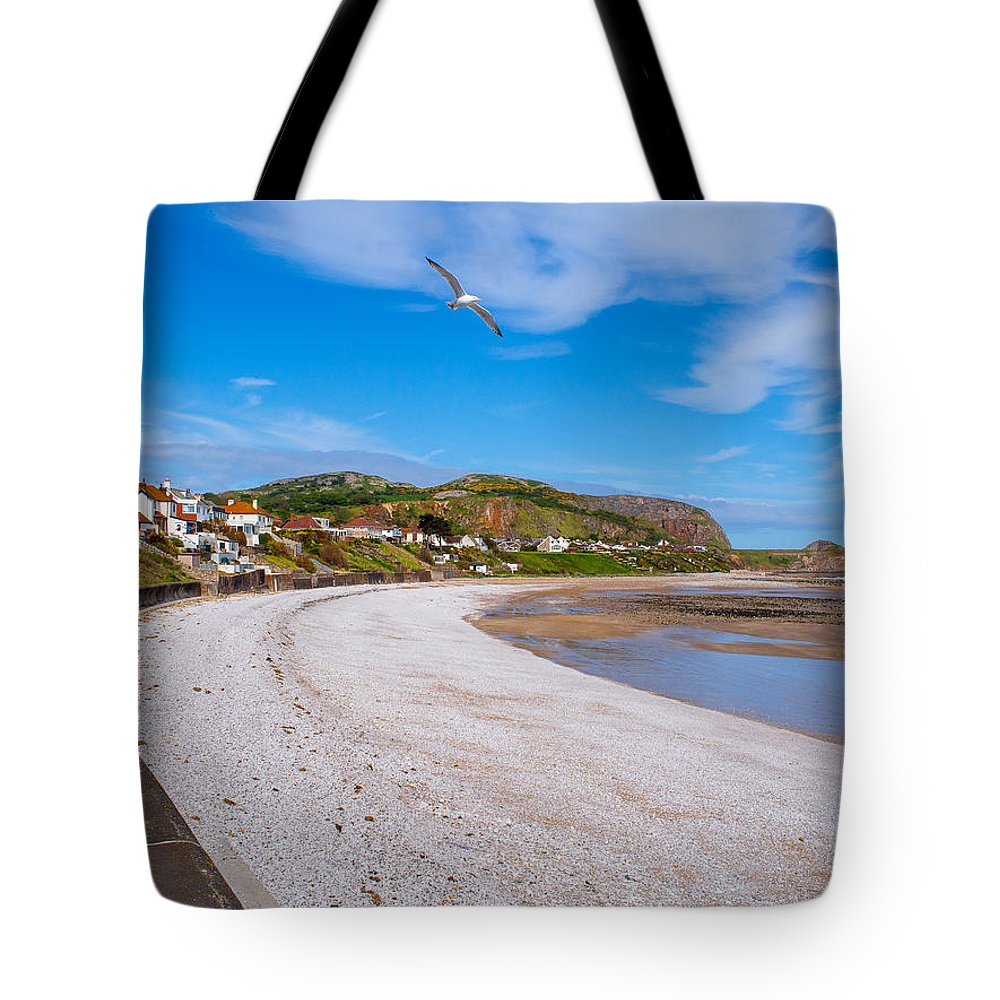 Beach Tote Bag featuring the photograph Rhos On Sea by Mark Llewellyn