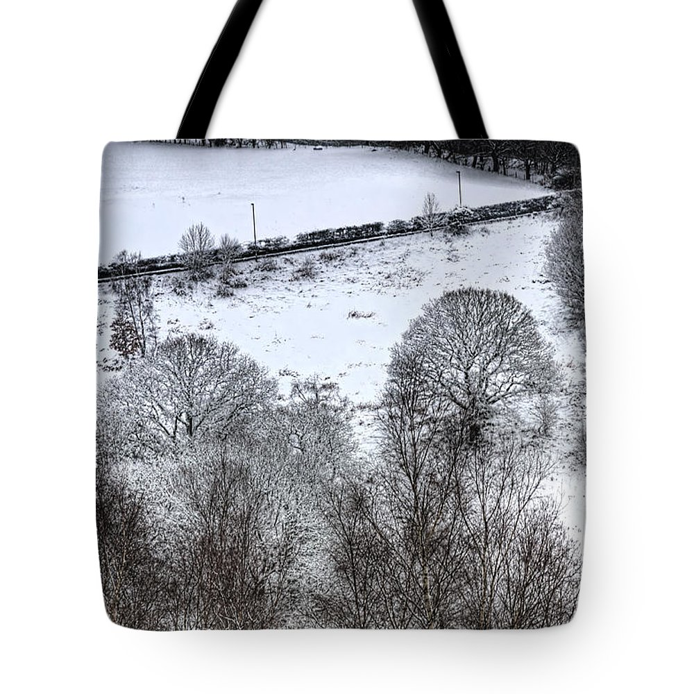 Winter Tote Bag featuring the photograph Rhymney Valley Winter 4 by Steve Purnell