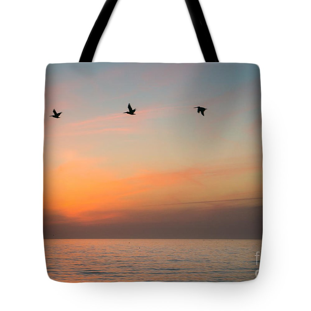 Sunset Tote Bag featuring the photograph Rhythm Of The Sunset  by Amy S Klein