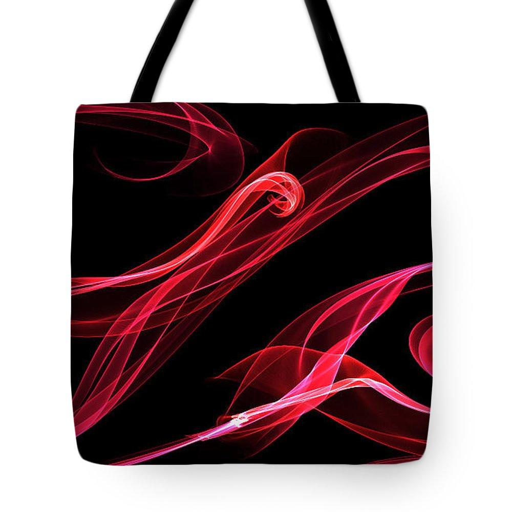 Ribbon.flames.art.artwork Tote Bag featuring the digital art Ribbons by Constance Carlsen