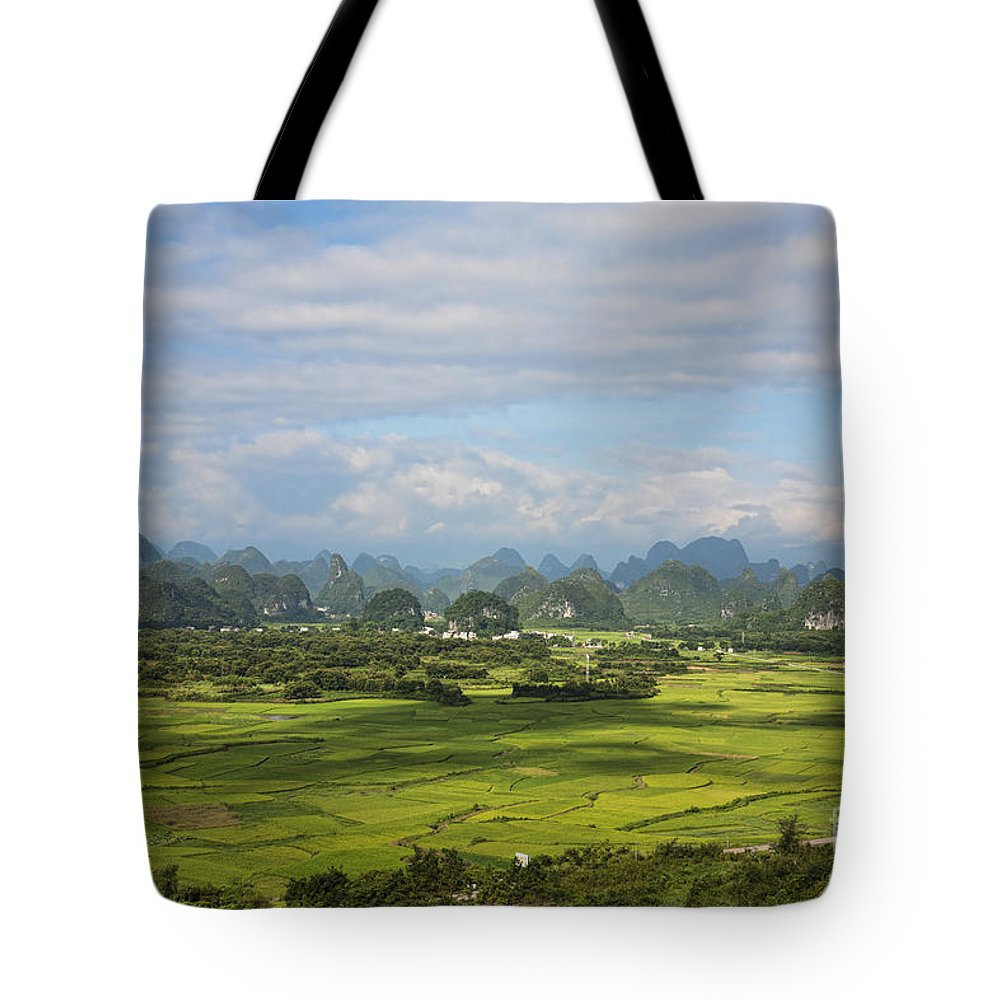 Nature Tote Bag featuring the photograph Rice Farming In China by David Davis
