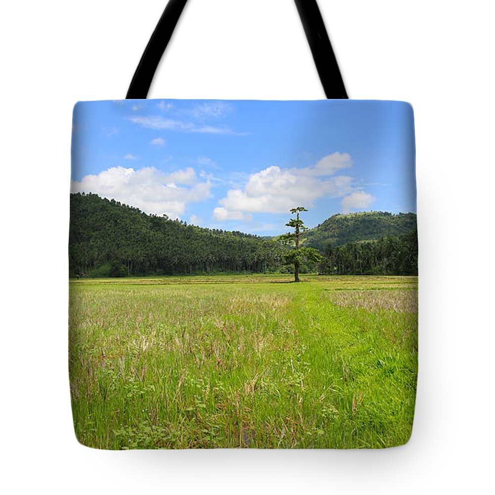 Rice Field Tote Bag featuring the photograph Rice Field by Paul Ranky