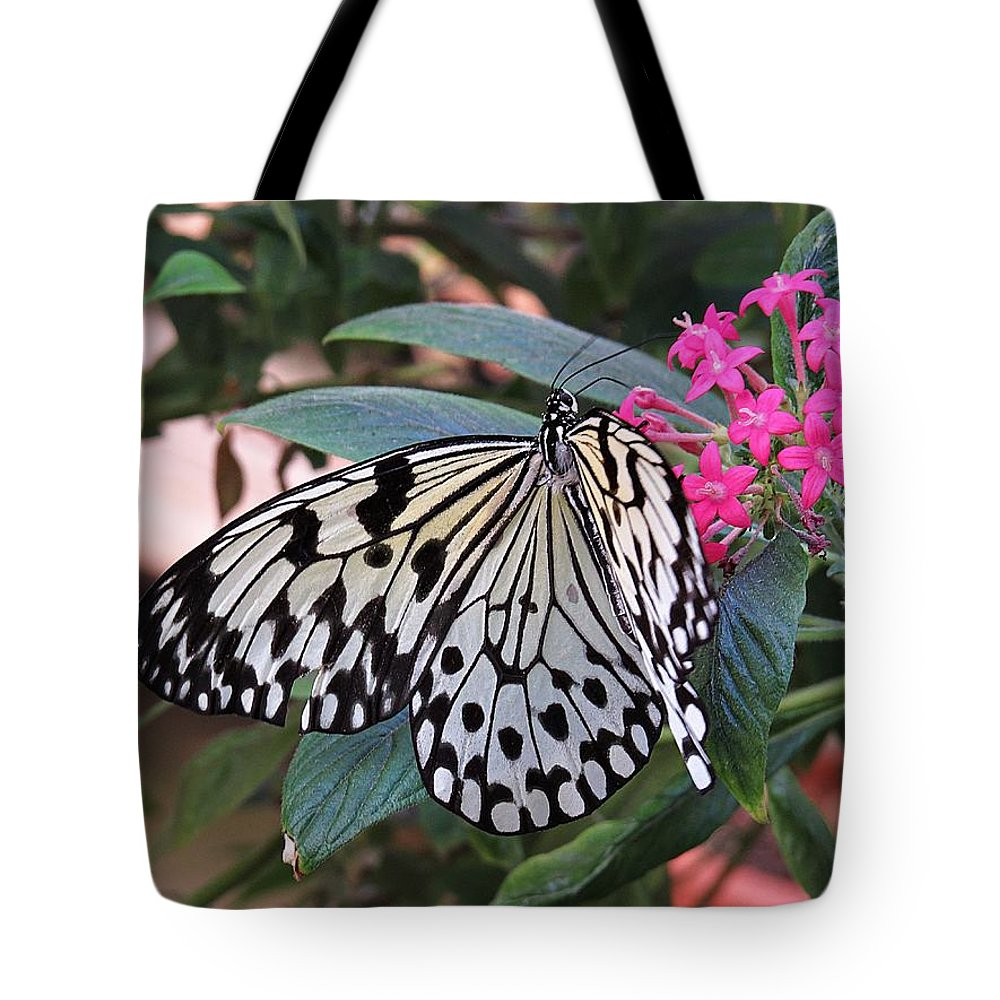 Rice Paper Butterfly Tote Bag featuring the photograph Rice Paper Butterfly by MTBobbins Photography