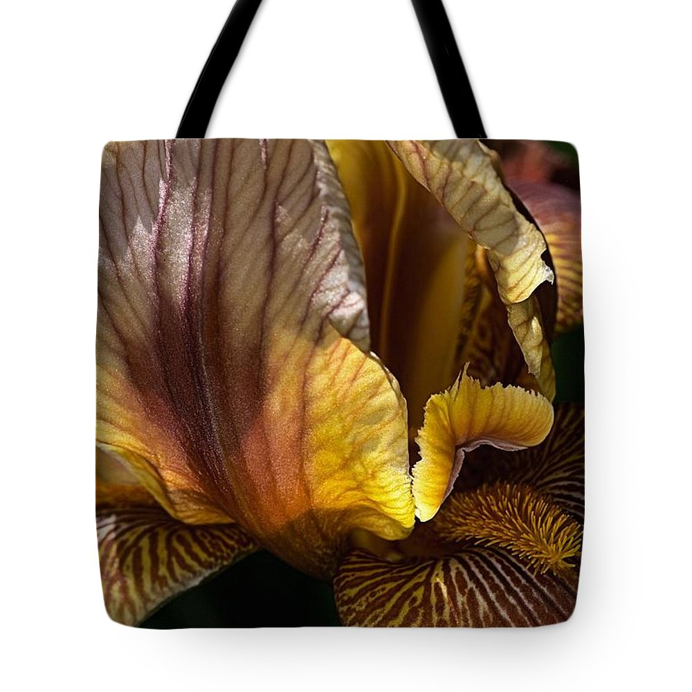 Flora Tote Bag featuring the photograph Rich Iris by Joy Watson