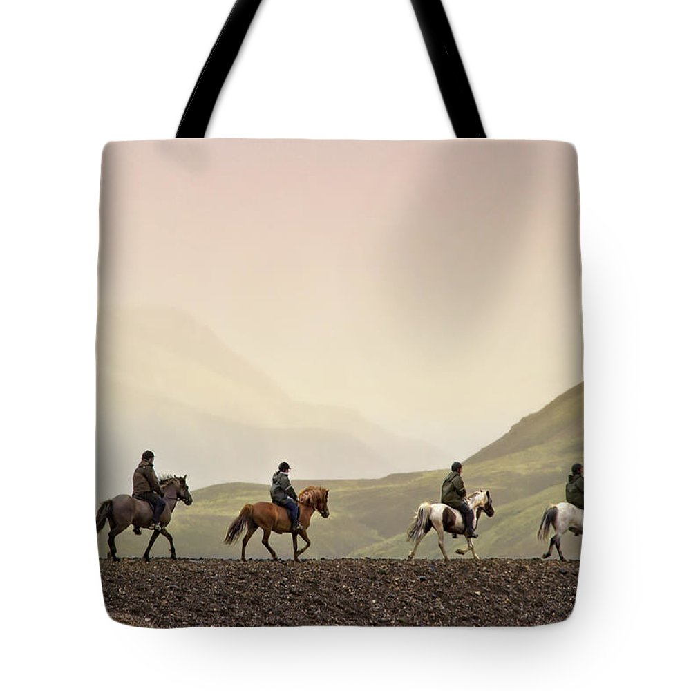 Landmannalaugar Tote Bag featuring the photograph Ride Into My Mind by Evelina Kremsdorf