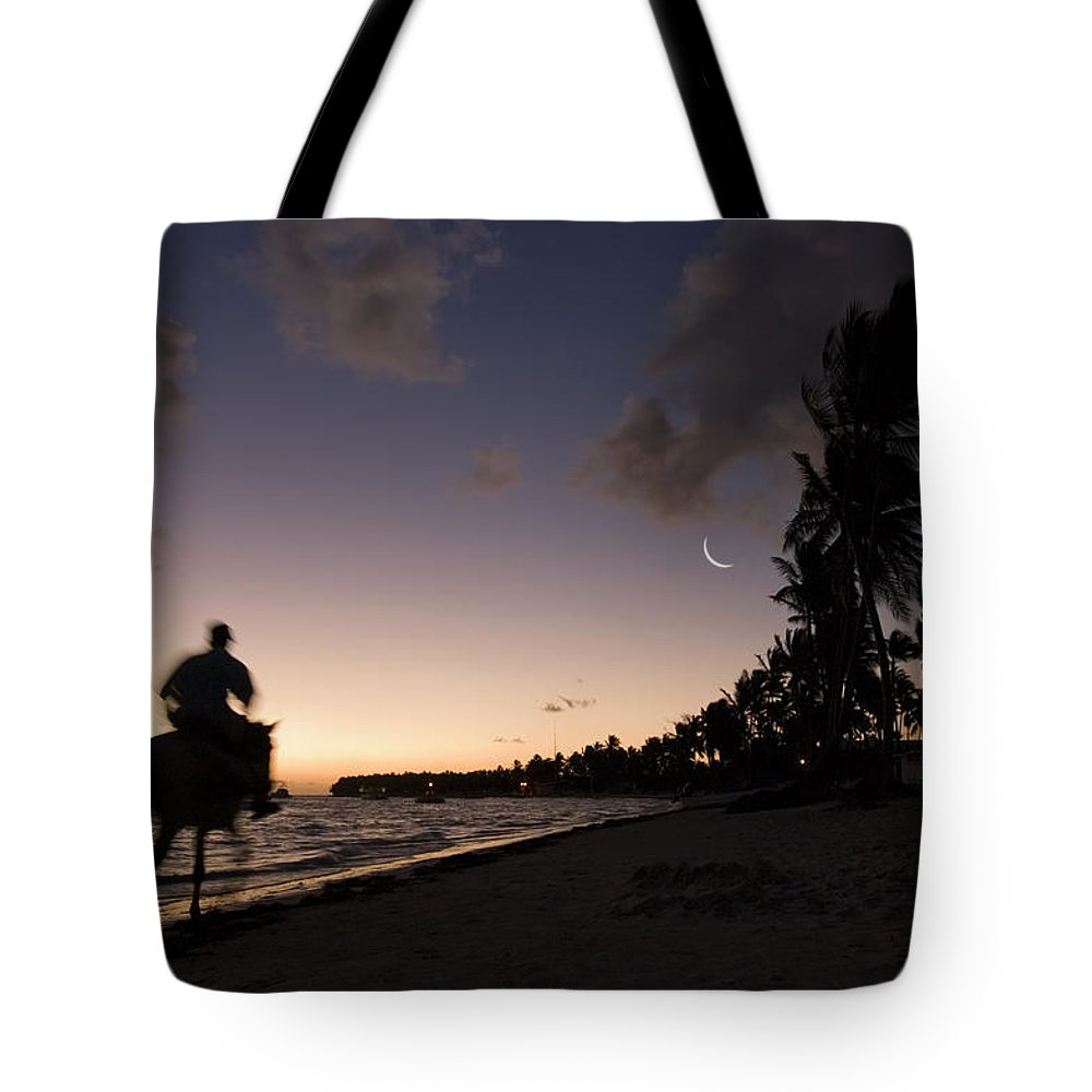 3scape Tote Bag featuring the photograph Riding On The Beach by Adam Romanowicz